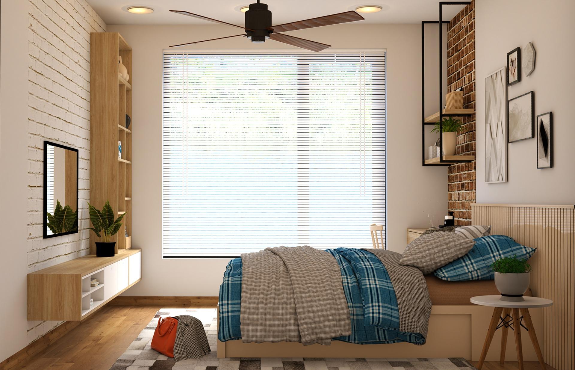 מאוורר תקרה לחדר שינה