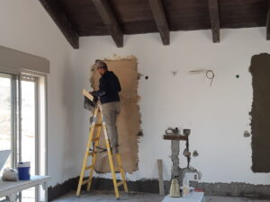 סגירת חלונות בסלון